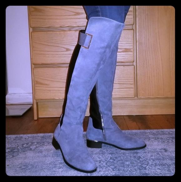 calvin klein jemamine wide calf boot